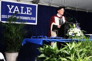 Dean Peter Crane addresses the Class of 2012  (photo: environment.yale.edu)